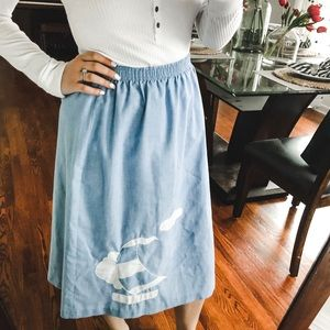 Dresses & Skirts - Blue Sailboat Skirt Small or Extra Small